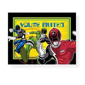 Power Rangers Space Patrol Invitations - 8 Count